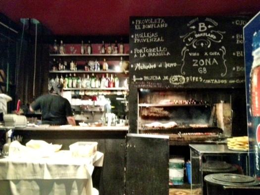 El Bonpland parilla - check out the dumb waiter in the corner.
